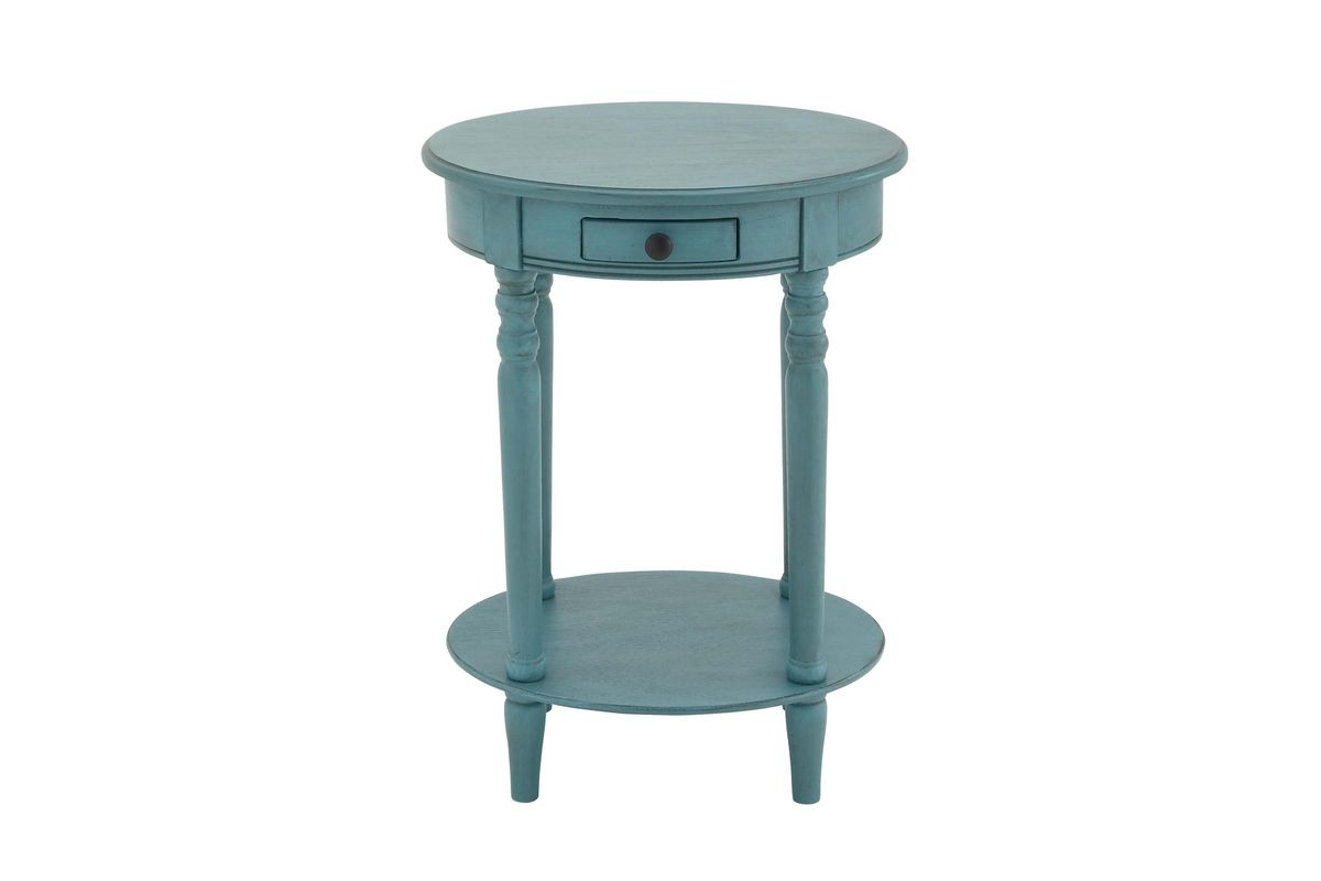 updated traditional wood oval accent table antique blue from gardner white furniture small square patio wire side target coastal themed lamps west elm outdoor metal the living
