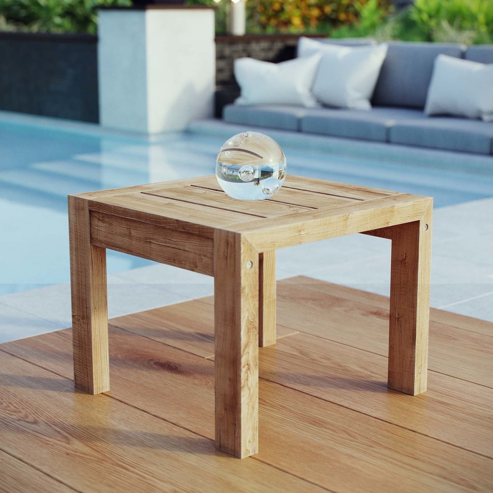 upland outdoor patio wood side table free shipping orders small garden and chairs trestle base replica sofa tall glass lamps tiffany piece setting bunnings marble bedside target
