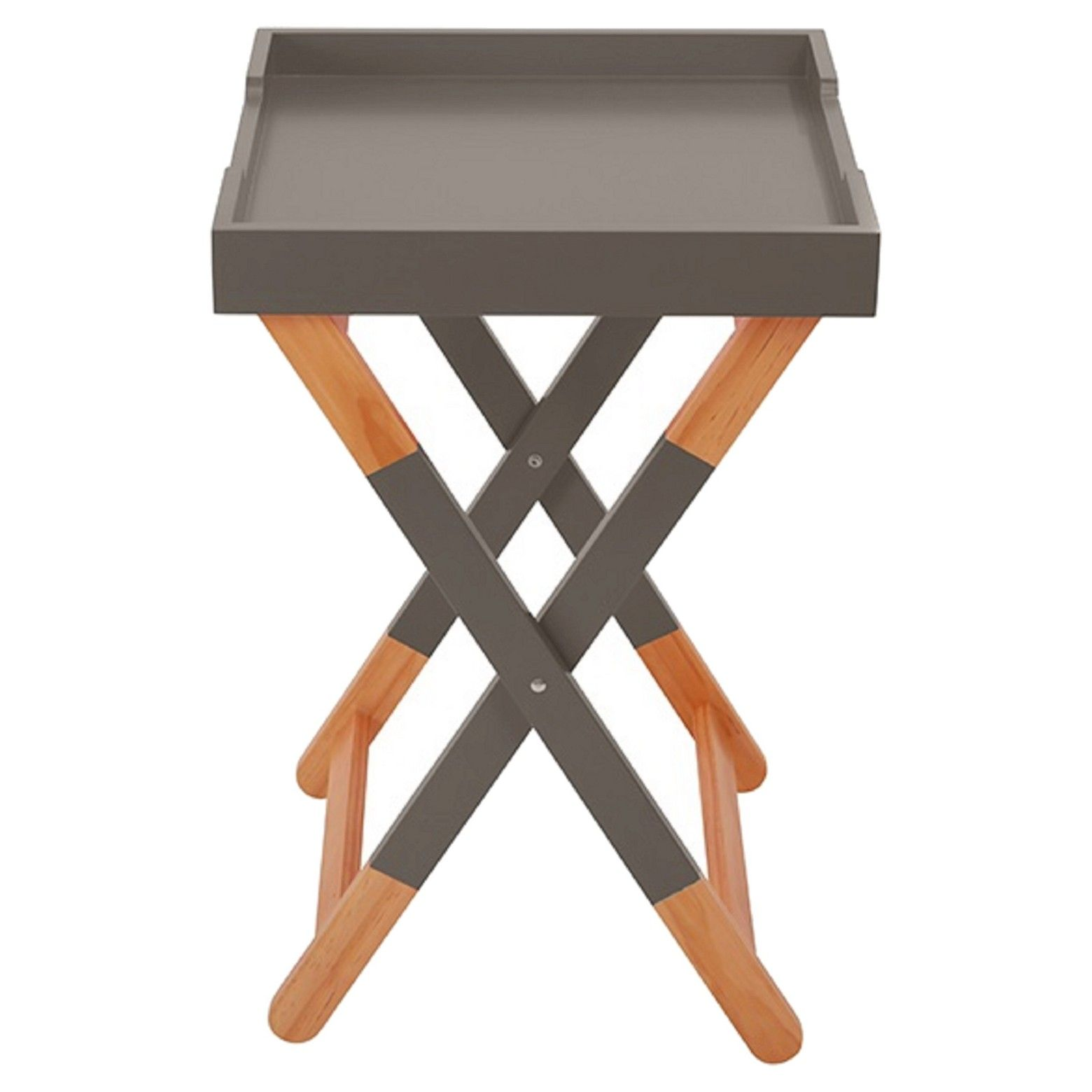 urb space wood tray side table trays and triller accent target bull painted natural woodbrbull versatilebrbrthe dar has trendy two tone look can used pink patio umbrella large