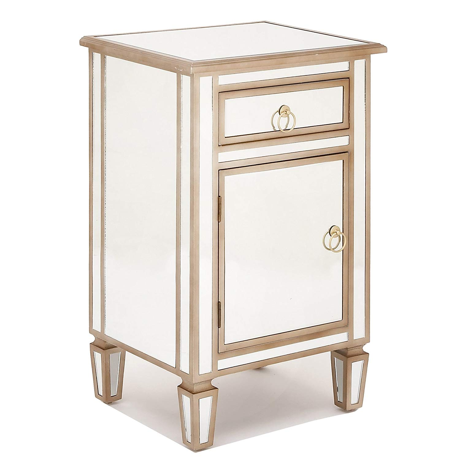 urban designs gold mirrored cabinet side table home accent with drawer kitchen antique shelf book stand target white bedside furniture covers metal tables bronze skirting painted