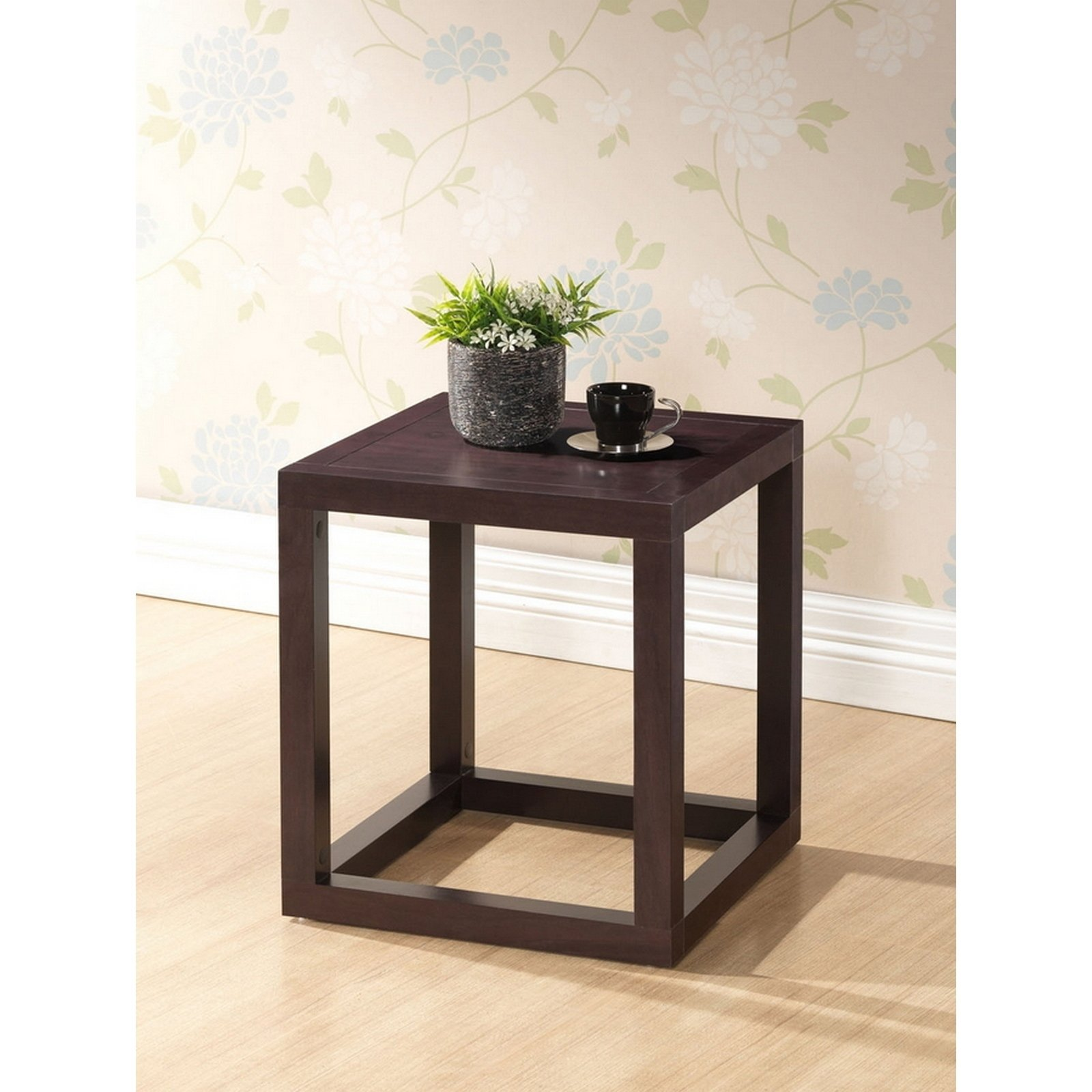 urban designs hallis brown modern accent table and nightstand tables free shipping today farm dining with bench screw coffee legs chrome martha stewart patio set black bar thin