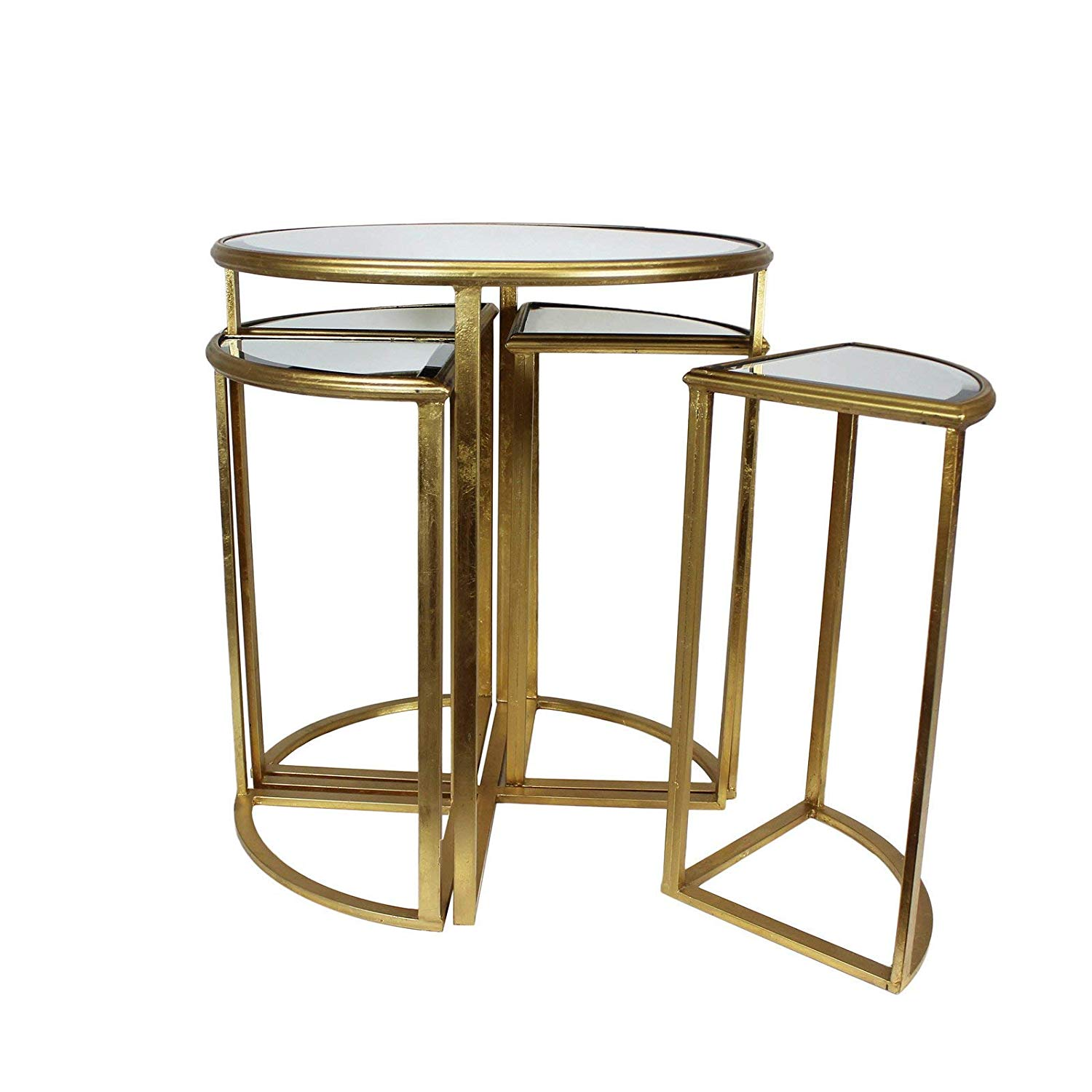 urban designs round gold mirror accent table home kitchen mirrored antique square coffee oak lamp large white ikea storage boxes mid century lounge chair wine rack cushions