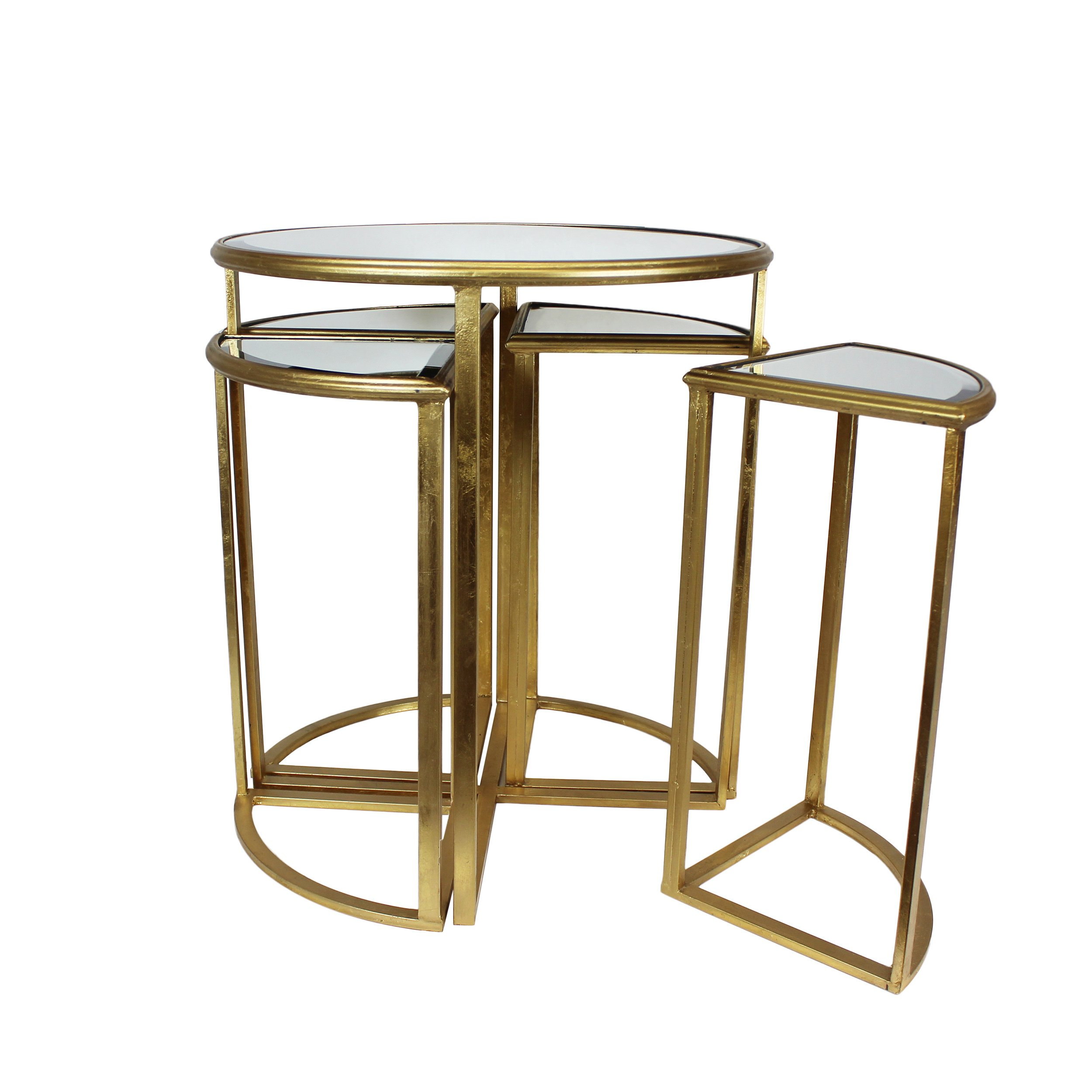 urban designs round gold mirror nesting accent table set and free shipping today chairside end foyer furniture pieces console with cabinets target threshold black marble dining