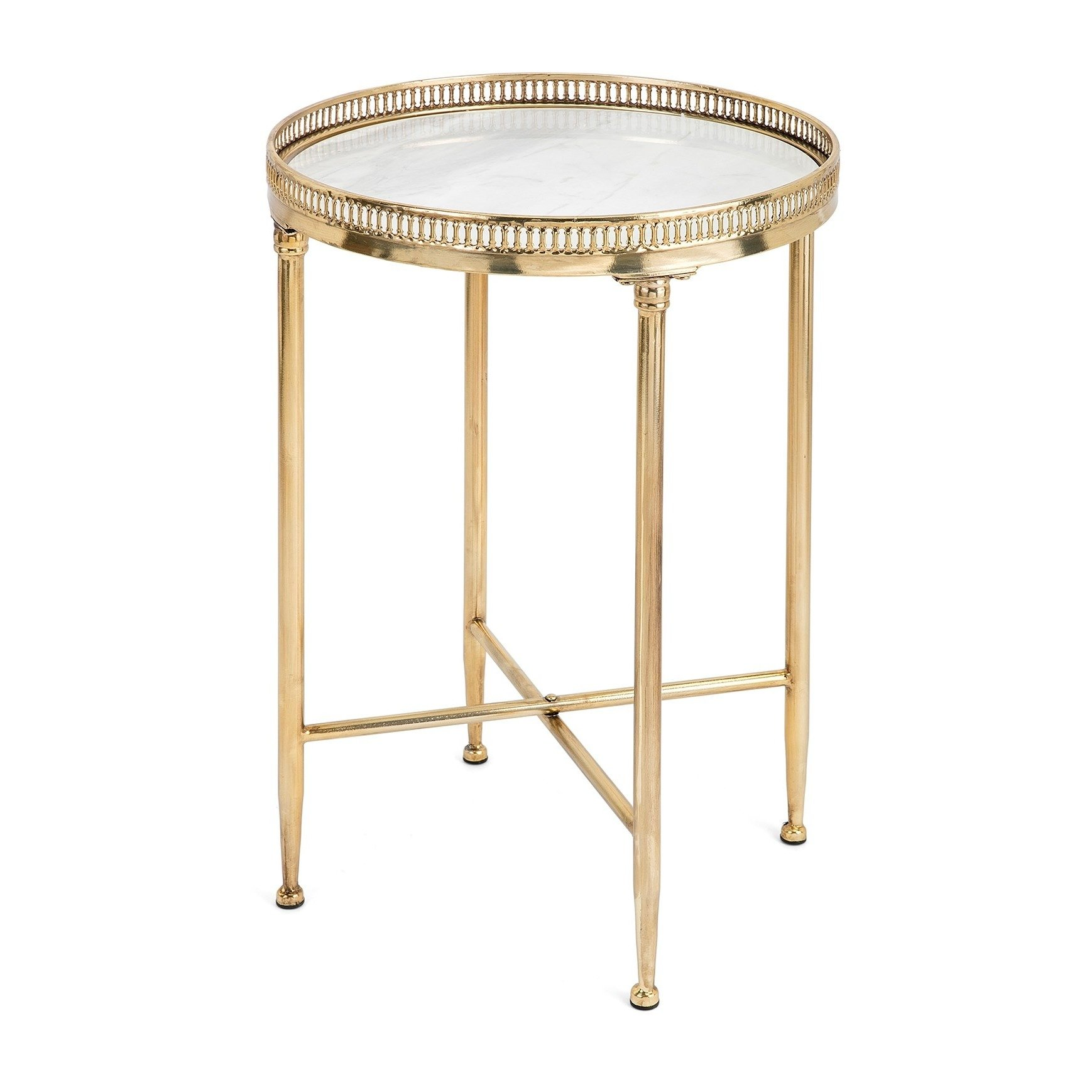 urban designs satin gold inch metal and marble top round accent table free shipping today candle centerpieces small oval end french coffee black piece living room set farm door