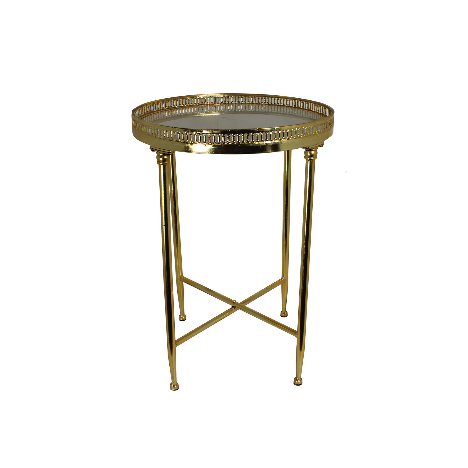 urban designs satin gold inch metal and marble top round accent table with free shipping today wood living room tables island chairs antique oak end rattan garden furniture