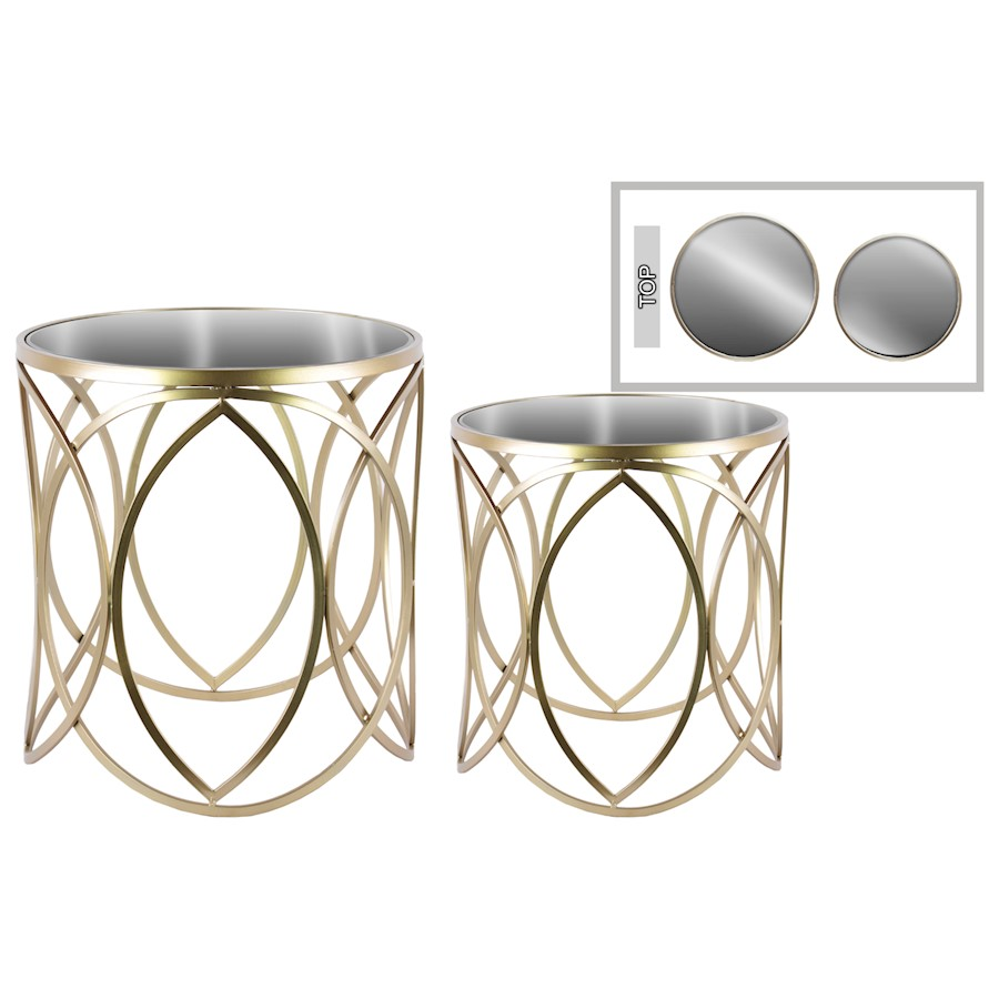 urban trends metal round nesting accent table mirror swirl set and loading target threshold gold glass lamp foyer furniture pieces folding patio piece wicker ships lantern kitchen