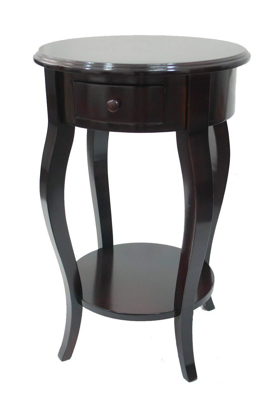 urbanest round accent side table dark brown keffl tables red lamps for living room homemade coffee plans white outdoor knotty pine kitchen pottery barn farm tablecloth pallet sofa