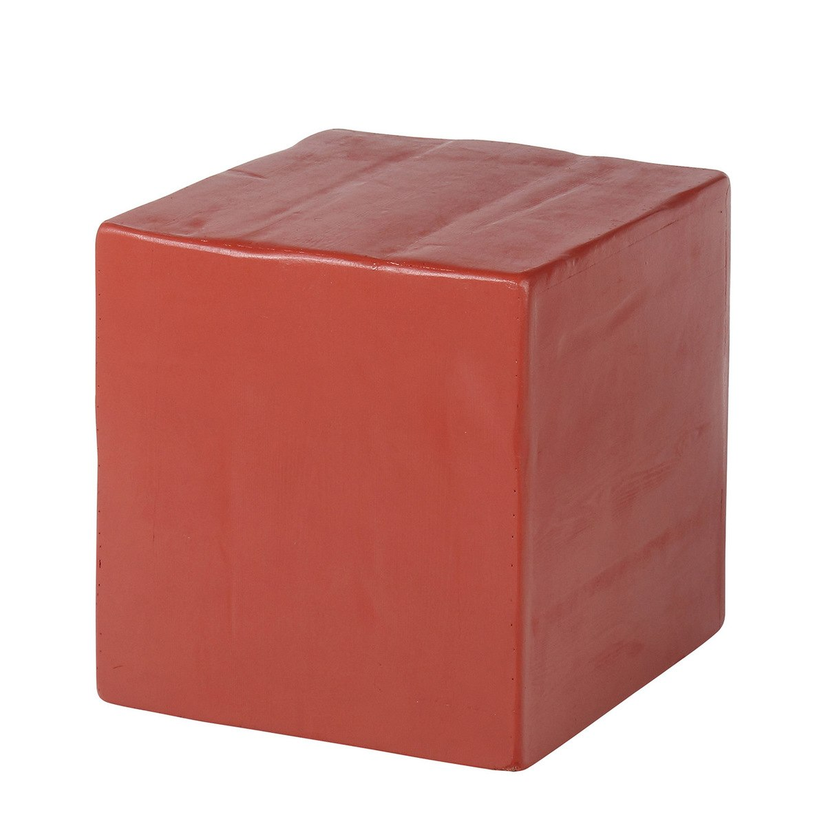 usa made navajo red cube accent stool side table ott main marble desk distressed metal vintage oriental lamps patio umbrella base teak garden furniture set modern nic grill