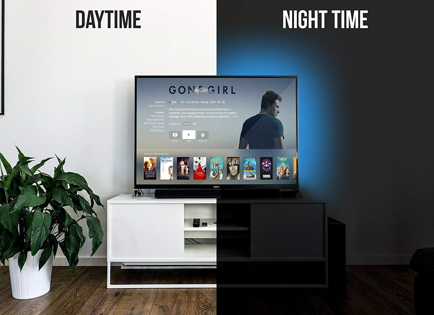 usb led lighting strip for hdtv small triller accent table target multi color rgb backlight with dimmer flat screen lcd sage green bedside drop leaf tables spaces decorative