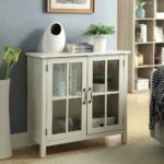 usl olivia white accent cabinet and glass doors the office storage cabinets table with leather chairs for living room dale tiffany peacock floor lamp marble look bedside outdoor 150x150