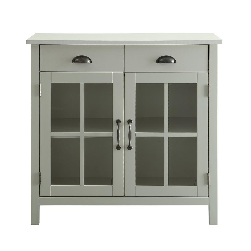 usl olivia white accent cabinet glass doors and drawers tables cabinets marble top round table beach bathroom decor small chest meyda lamps patio bistro set valencia furniture