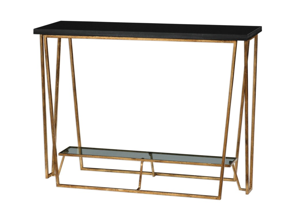 uttermost accent furniture agnes black granite console table products color montrez gold furnitureagnes door threshold seal lucite coffee pier one outdoor pillows brass with glass