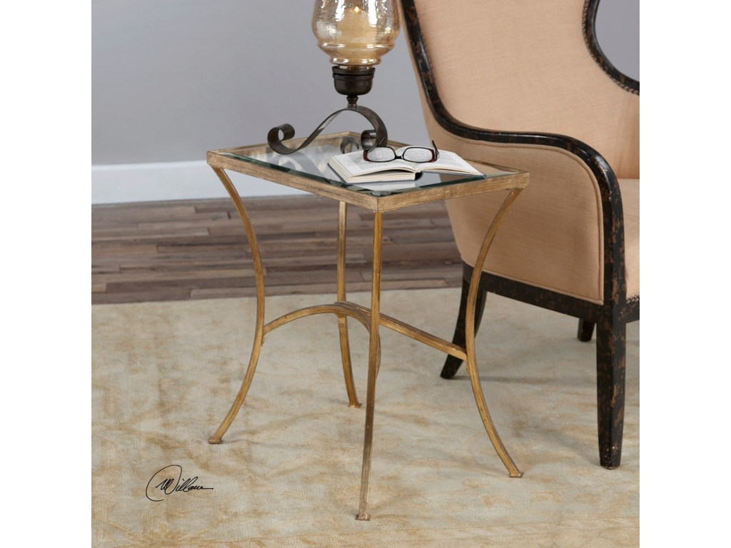 uttermost accent furniture alayna gold end table pedigo products color montrez furniturealayna storage drum ashley rocker recliner side size ceramic patio tiffany lighting direct