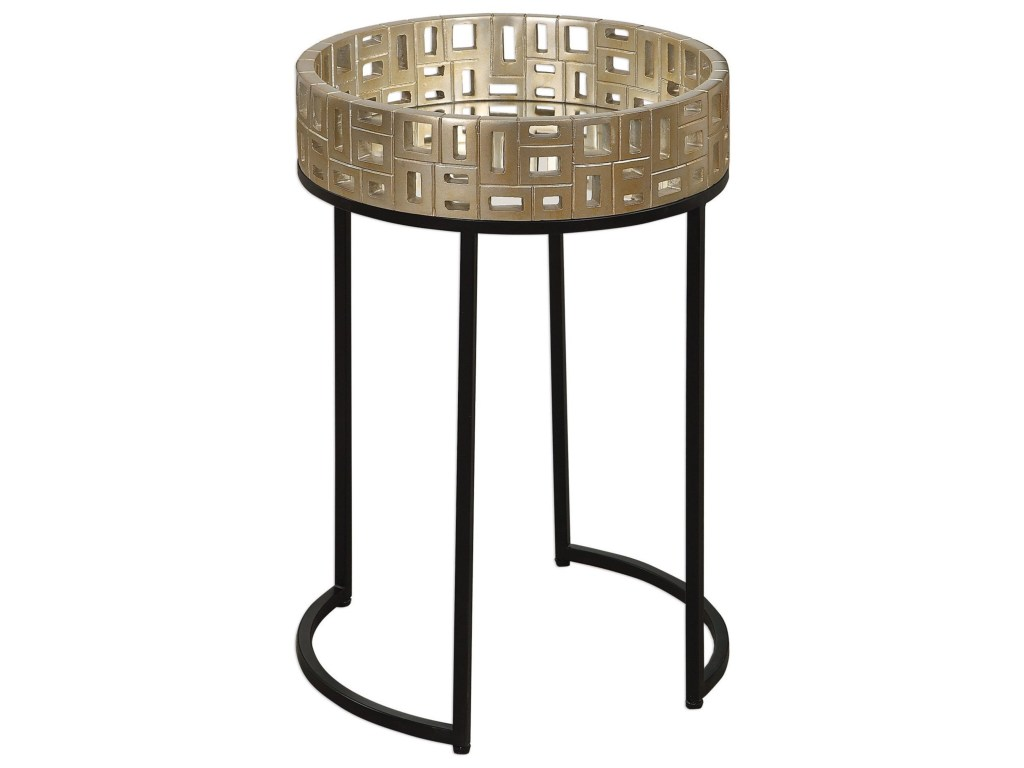 uttermost accent furniture aven gold table howell products color laton mirrored furnitureaven round marble top bistro lucite cube small glass lamp leather futon cover patio set