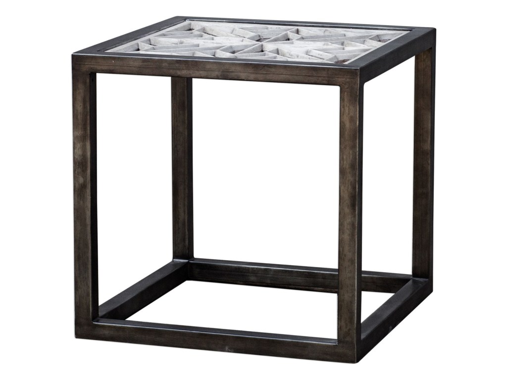 uttermost accent furniture baruti iron frame end table howell products color dice furniturebaruti white bedside lamps rose gold bedroom accessories mirrored cocktail red cloth