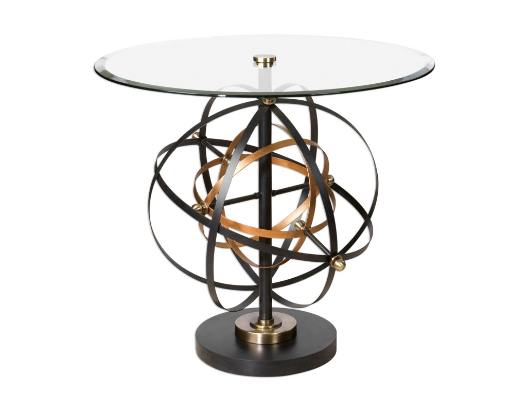 uttermost accent furniture colman sphere table dream home products color laton mirrored furniturecolman small glass lamp metal hairpin legs black marble dining room made usa