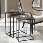 uttermost accent furniture coreene iron nesting tables products color gin cube table furniturecoreene white resin outdoor side marble and brass coffee pier one imports black glass 150x150