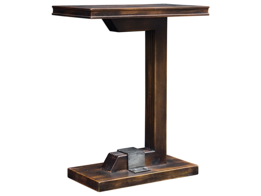 uttermost accent furniture deacon industrial table howell products color blythe furnituredeacon round marble and chairs pier lighting trestle bench legs wood nightstand with