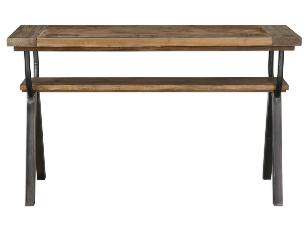 uttermost accent furniture domini industrial console table becker products color asher blue world sofa tables consoles narrow entryway cabinet metal dining room legs lawn kohls