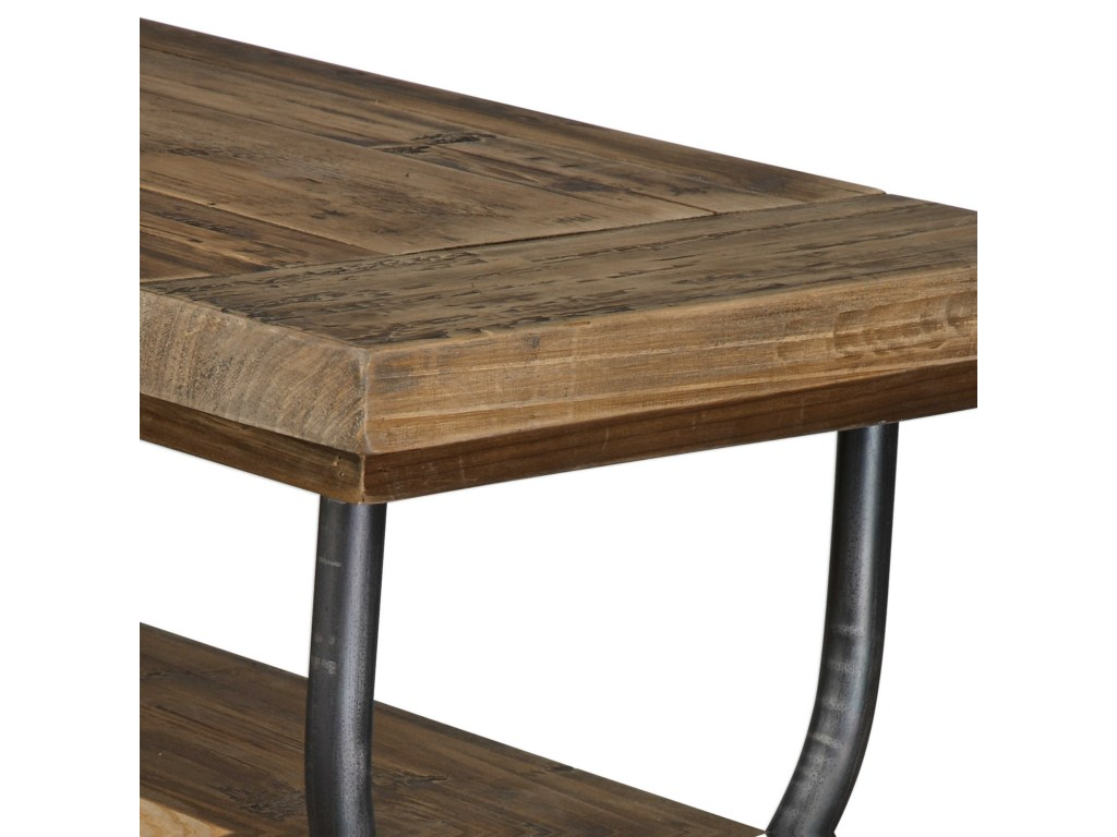 uttermost accent furniture domini industrial console table becker products color gin cube mission style tiffany lamps white marble and brass coffee magnussen pinebrook end modern
