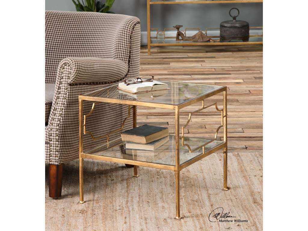uttermost accent furniture genell gold cube table miskelly products color asher blue small glass top meyda tiffany desk lamp outdoor grill side plans kohls slipcovers built bbq