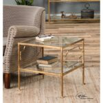 uttermost accent furniture genell gold cube table miskelly products color gin glass wood coffee modern farmhouse mission style tiffany lamps matching side tables crystal cabinet 150x150