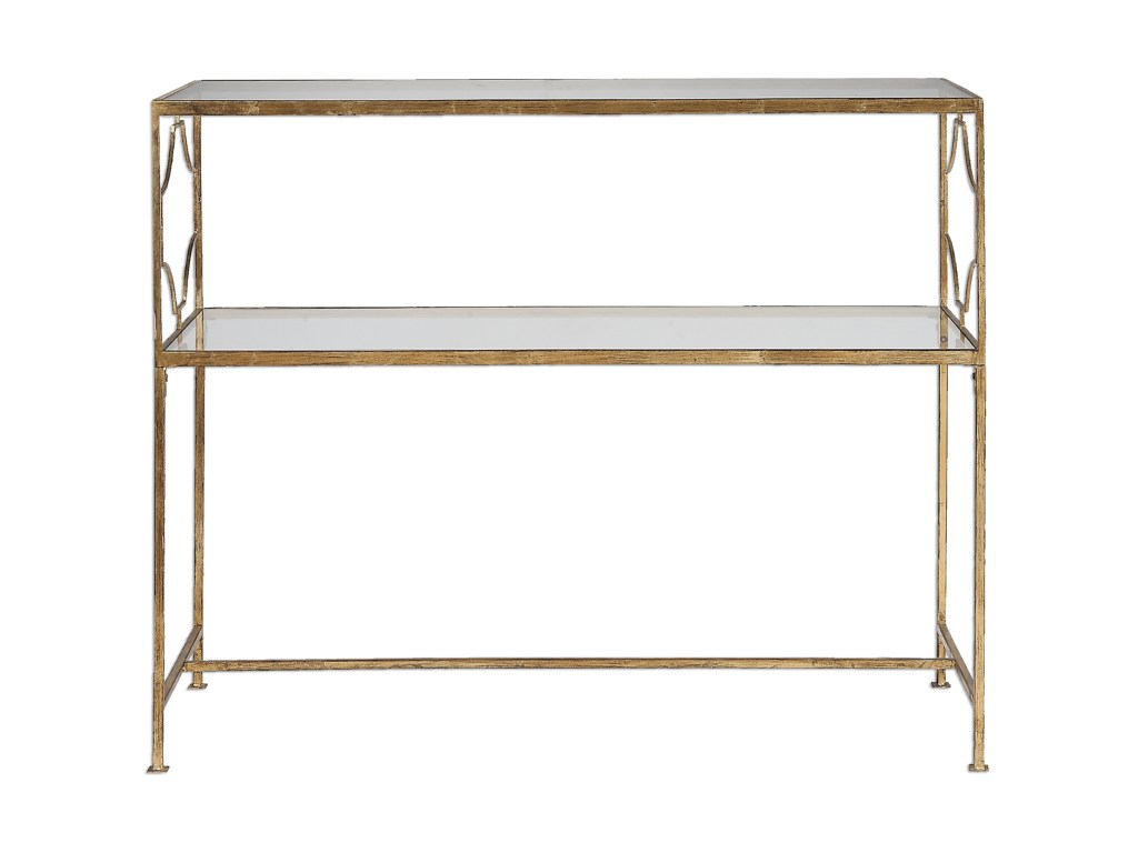 uttermost accent furniture genell gold iron console table miskelly products color stratford wicker folding bronze furnituregenell jcpenney patio metal sofa with glass top retro