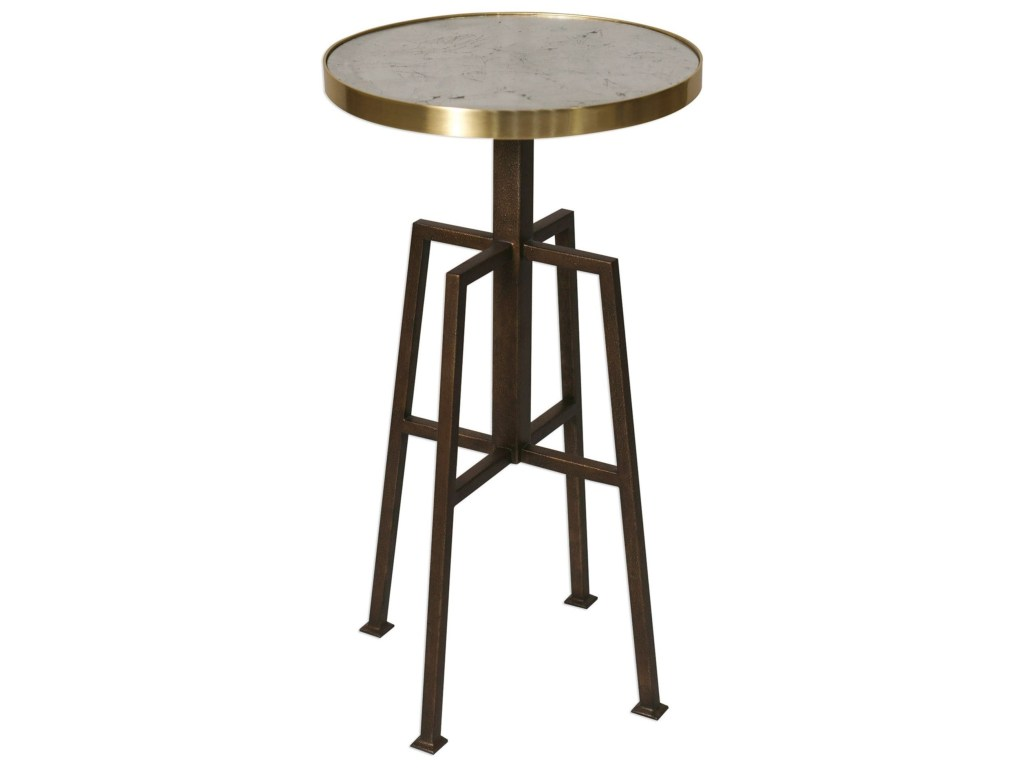 uttermost accent furniture gisele round table products color threshold copper furnituregisele weighted umbrella stand ethan allen pineapple outside patio side tables pottery barn