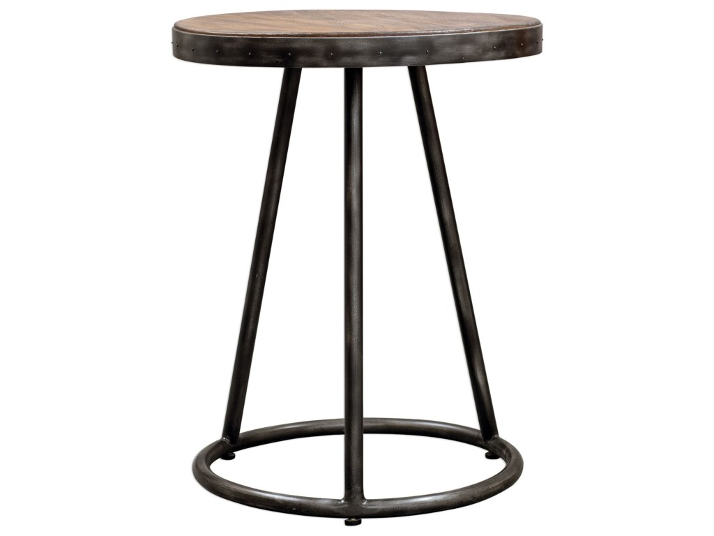 uttermost accent furniture hector round table miskelly products color martel furniturehector gray patio rattan side glass top inexpensive chairs with umbrella hole dale tiffany