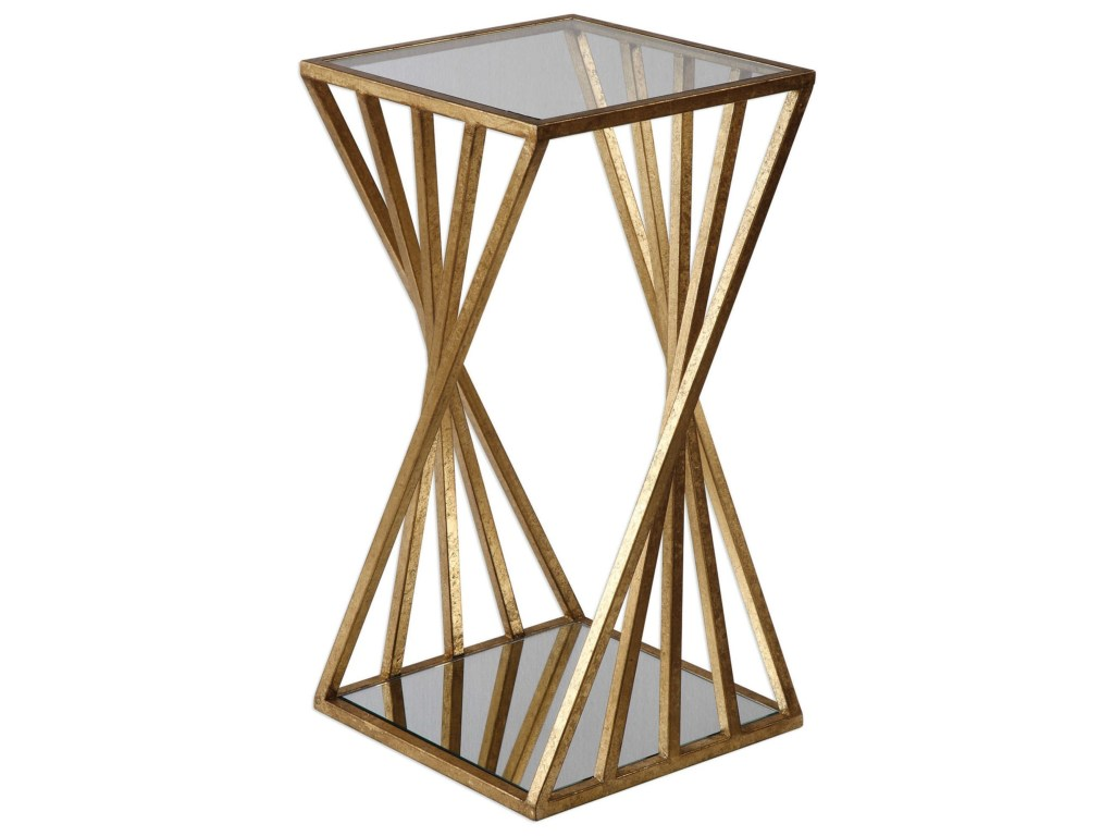 uttermost accent furniture janina gold dimensional table products color gin cube becker world cocktail coffee tables modern pendant lighting end with storage drawers ethan allen