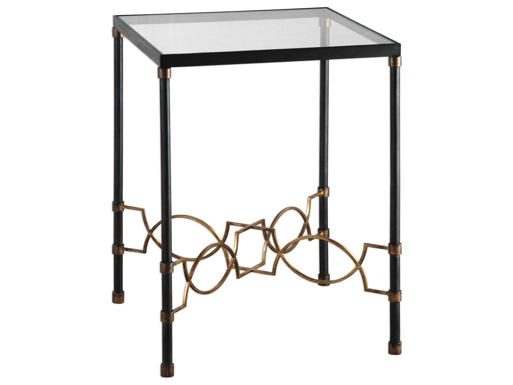 uttermost accent furniture josie industrial black table products color stratford wicker folding bronze furniturejosie ikea center metal and glass end tables jcpenney patio