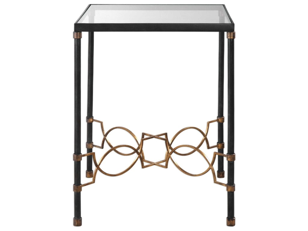 uttermost accent furniture josie industrial black table products color tables furniturejosie half moon ikea bistro and chairs entry lamps solid cherry end target wood metal side