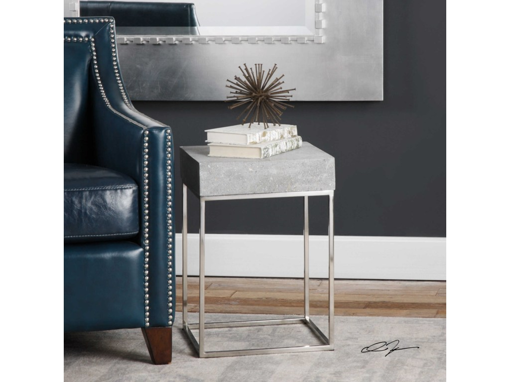 uttermost accent furniture jude concrete table bennett products color gin cube furniturejude ethan allen round cherry occasional tables pier one imports inch decorator side and