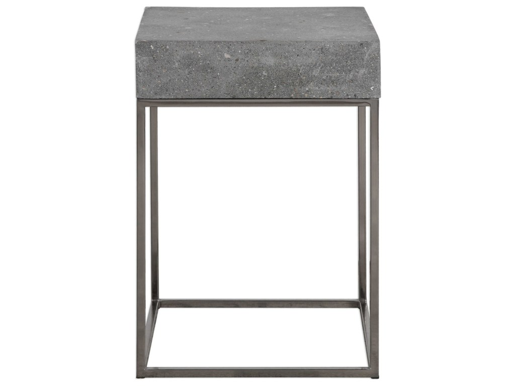 uttermost accent furniture jude concrete table howell products color laton mirrored furniturejude green coffee tables cloth side with umbrella hole marble iron kitchen sparkle