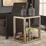 uttermost accent furniture julie mirrored end table dunk products color distressed grey quatrefoil with mirror furniturejulie pier papasan chair nate berkus small round wooden 150x150