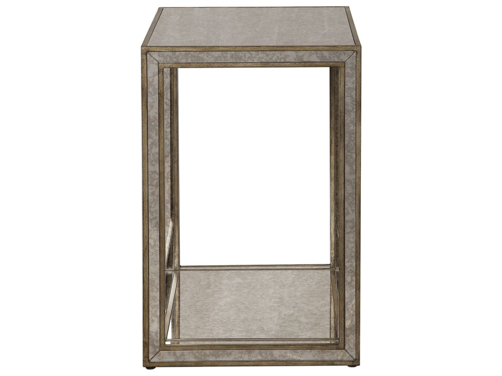 uttermost accent furniture julie mirrored end table dunk products color distressed grey quatrefoil with mirror furniturejulie vitra replica square fall tablecloth chairside ikea