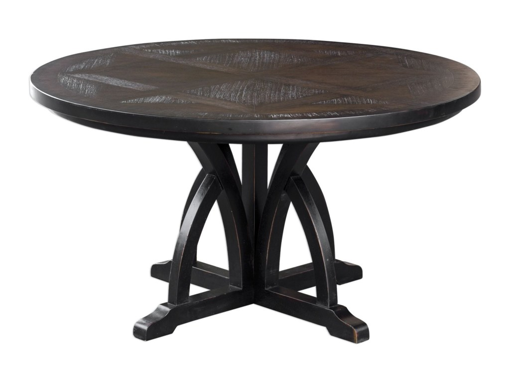 uttermost accent furniture maiva round black dining table howell products color threshold furnituremaiva patchwork rug bar height legs folding coffee target replica nautical flush