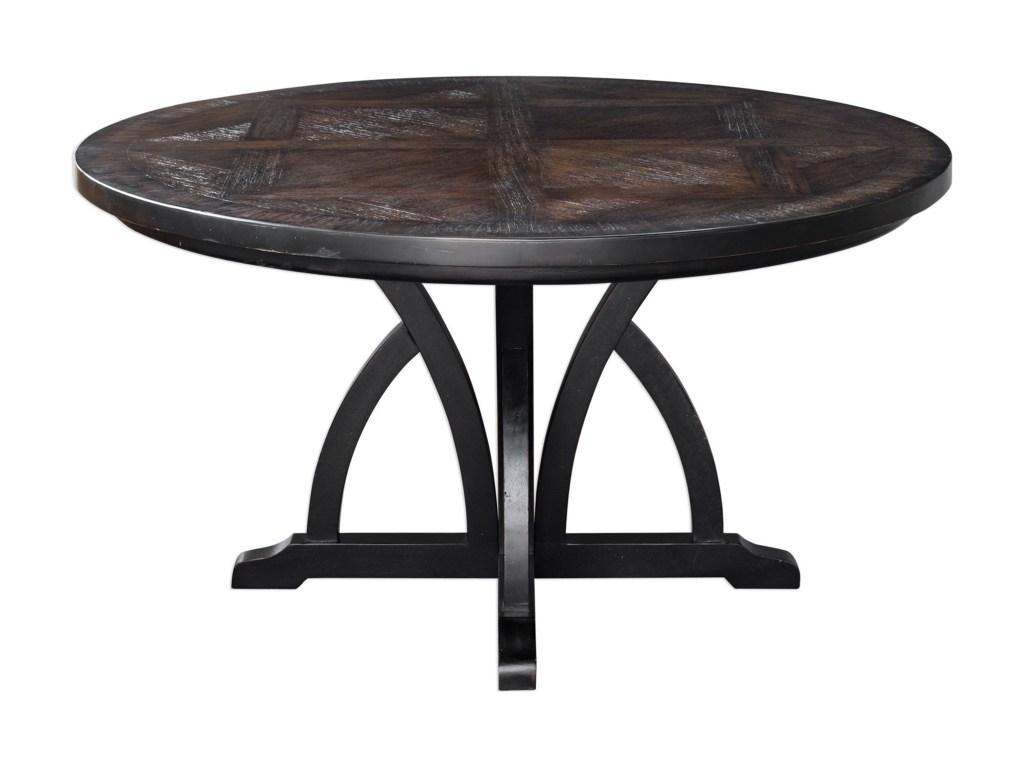 uttermost accent furniture maiva round black dining table products color room dunk bright tables outdoor shade structures lamps for living yard and chairs windham coffee the