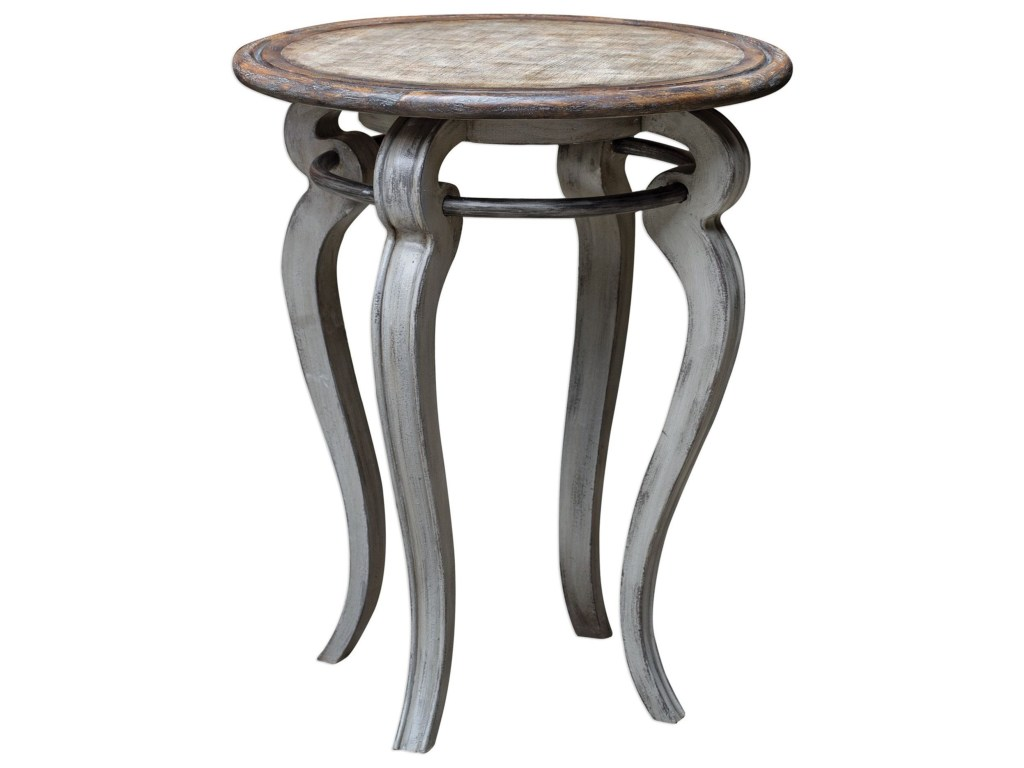 uttermost accent furniture mariah round gray table products color dunk bright end tables wrought iron double pedal drum small console chest modern and contemporary red black patio