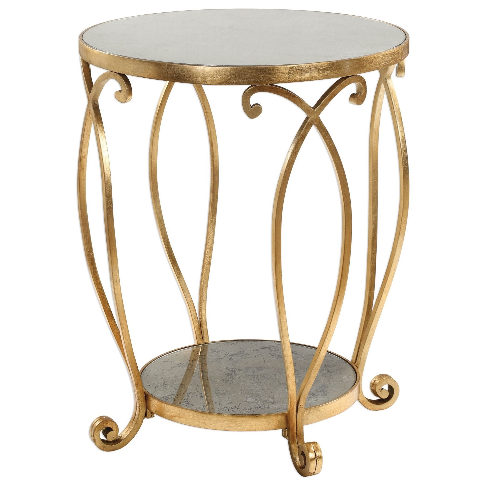uttermost accent furniture martella round gold table reid products color dice red pottery barn lamps dining room and chairs wide nightstand black umbrella base small wood end