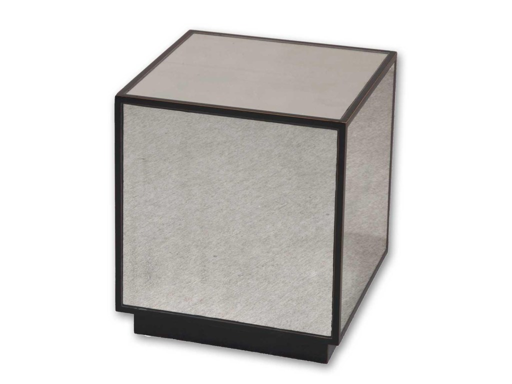 uttermost accent furniture matty mirrored cube modern end table products color furniturematty aluminum door threshold kohls slipcovers sweet mixed drinks living room lamps red