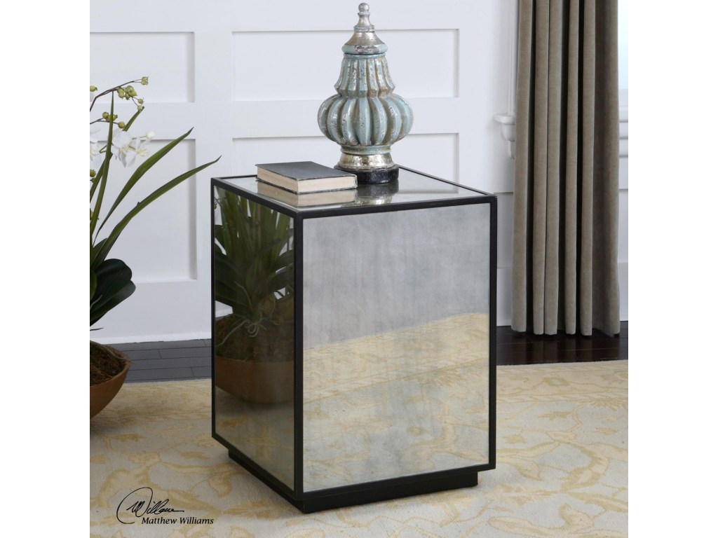 uttermost accent furniture matty mirrored side table products color laton furniturematty round pub height made usa meyda tiffany lamps bulk linens barnwood bar west elm tripod