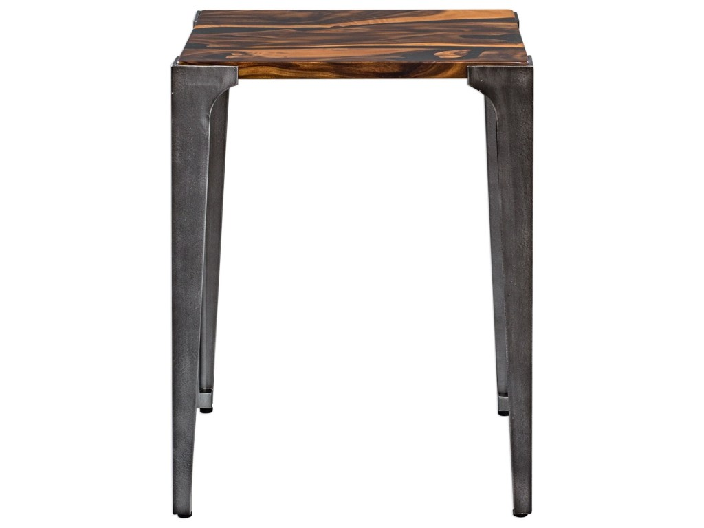 uttermost accent furniture mira acacia side table miller products color dice red furnituremira deck coffee tall decorative cabinet cottage style end tables tree stump gold