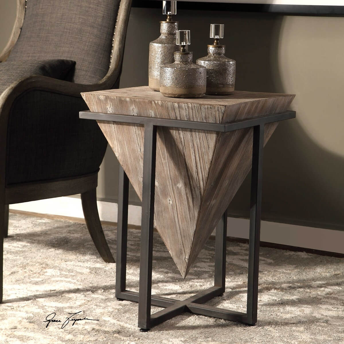 uttermost accent furniture mirrors wall decor clocks lamps art tall round pedestal table cube side aluminum outdoor coffee screw metal legs entry hairpin leg stool pier one dining