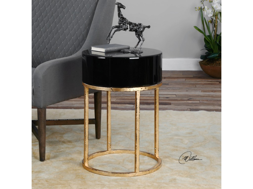 uttermost accent furniture myles curved black table products color elephant furnituremyles pottery barn white floor lamp and patio umbrella nautical flush mount light glass coffee