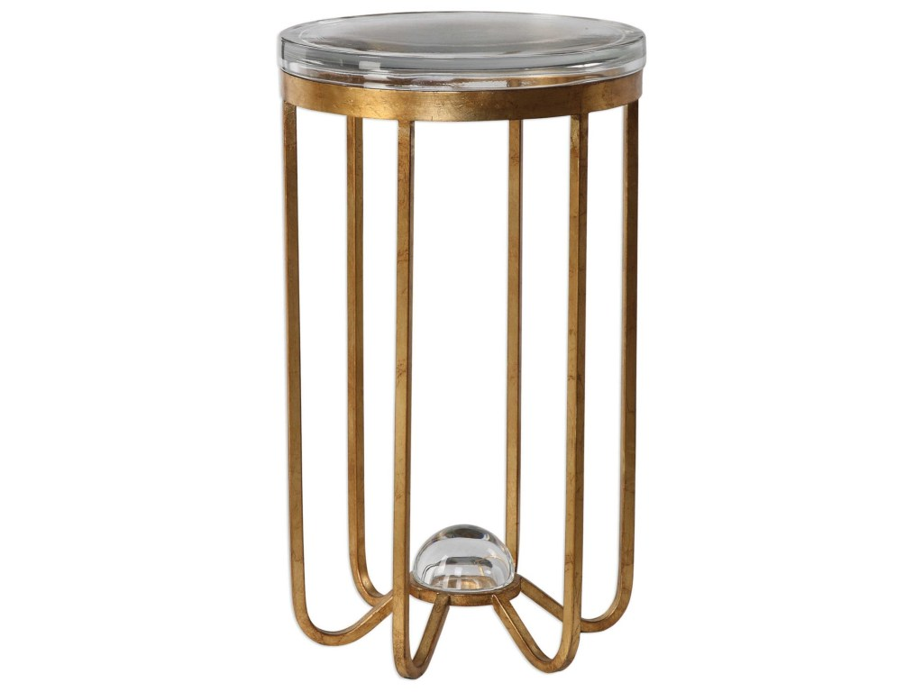 uttermost accent furniture occasional tables allura gold products color metal table tablesallura nautical childrens lamp elastic covers whole shades base counter height dining set
