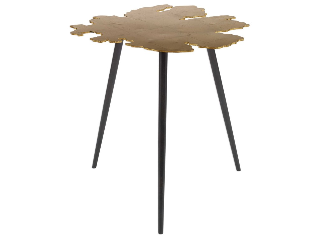 uttermost accent furniture occasional tables linden gold products color table tableslinden leaf gray cement base inch nautical island lighting round plastic tablecloths with