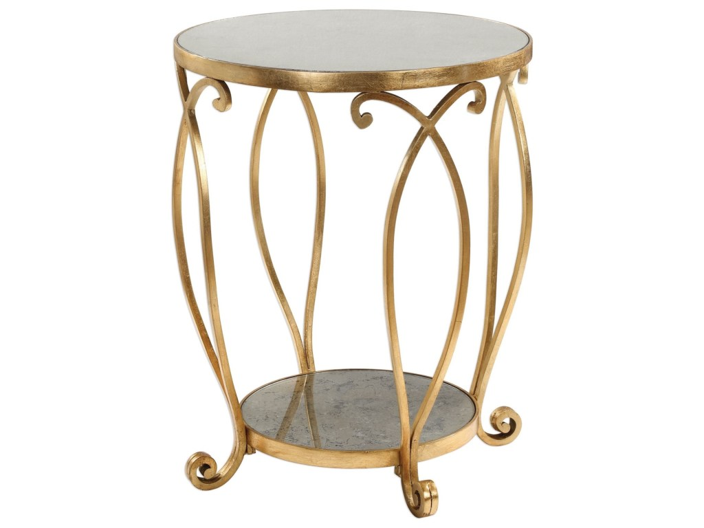 uttermost accent furniture occasional tables martella round products color table tablesmartella gold tufted wood and metal end white sliding door glass iron side entry console
