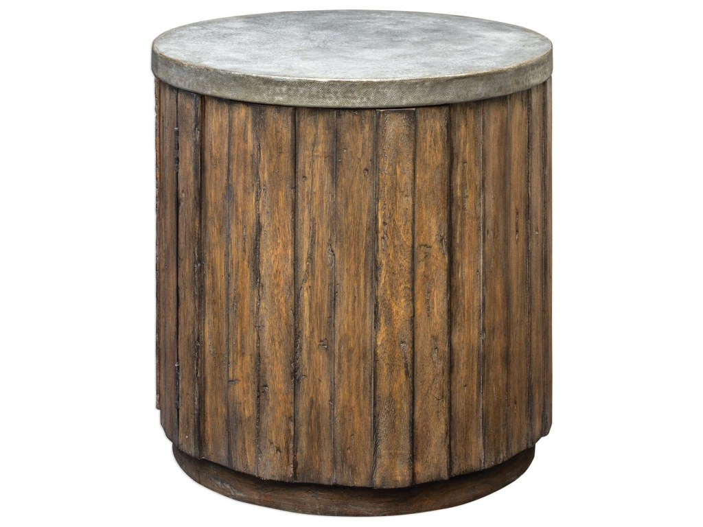 uttermost accent furniture occasional tables maxfield wooden products color storage drum table dunk bright end outdoor dining sets weber grill stand patio with small plastic
