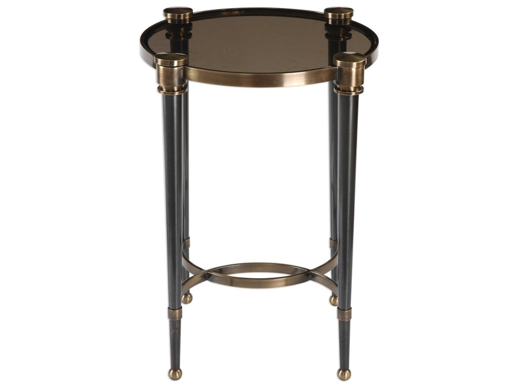 uttermost accent furniture occasional tables thora brushed products color threshold copper table tablesthora black wall decor garden chairs outside patio side glass piece round